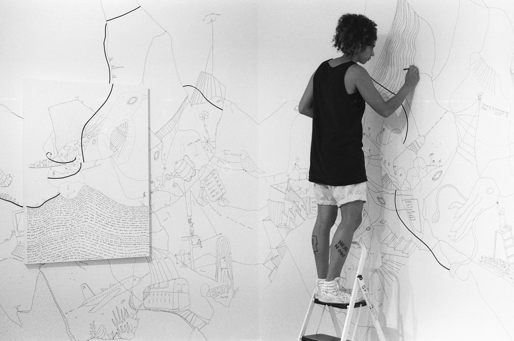 Image: Shantell Martin, Continuous Line, installation view / ©Shantell Martin ©Black & White Gallery/Project Space
