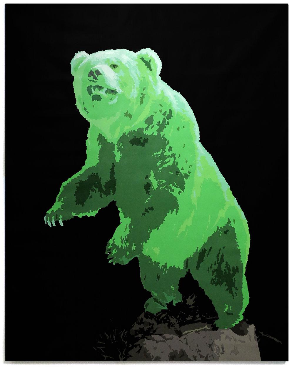 BEAR, 2016 Acrylic on canvas  68x54 inches