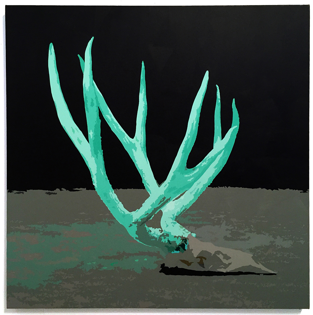 ANTLERS, 2016 Acrylic on canvas 434x34 inches