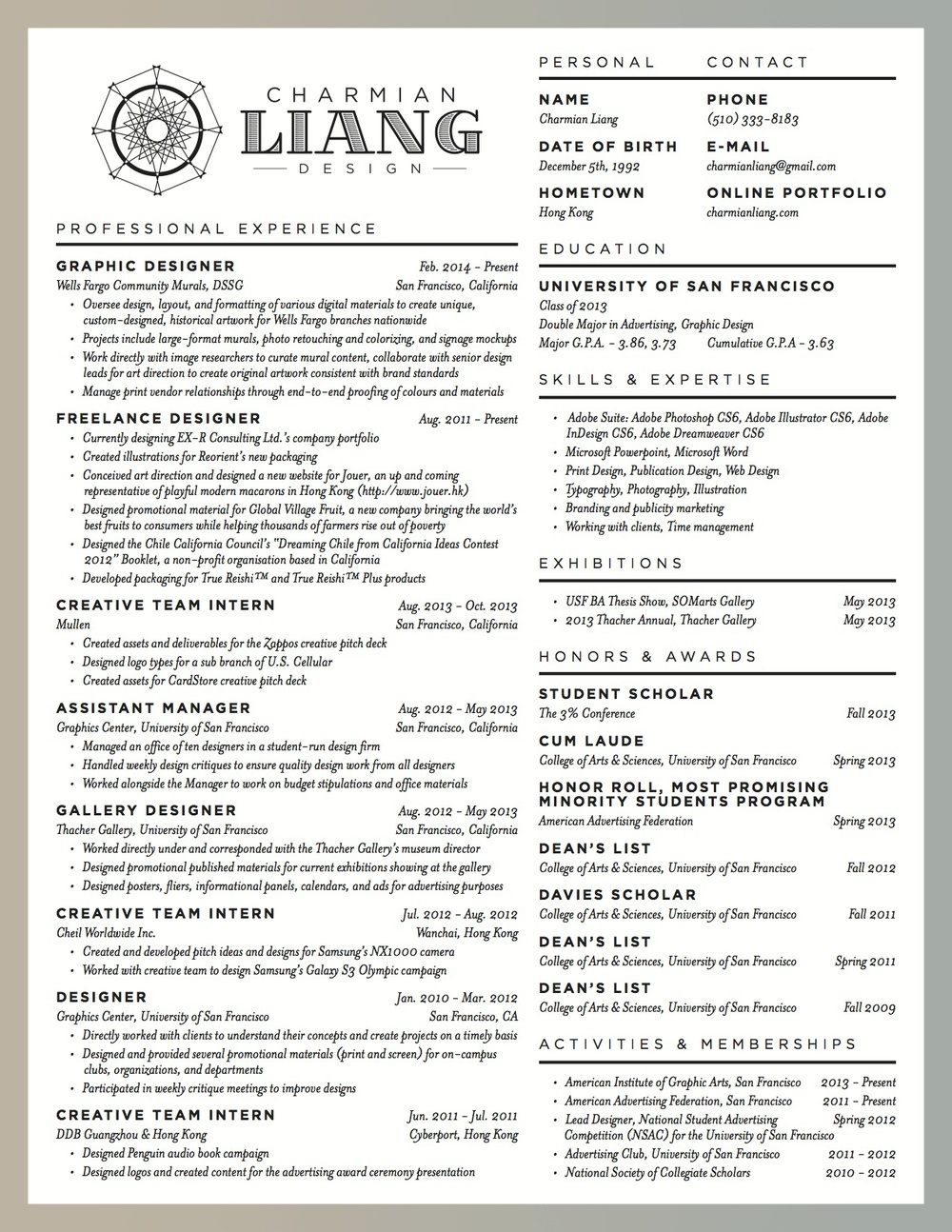 CharmianLiang-Resume