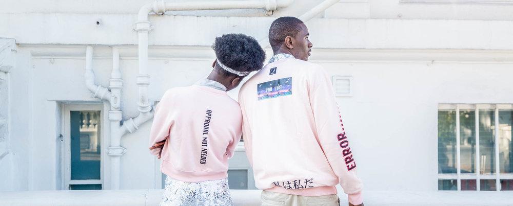 Pink Bamboo Cotton Sweatshirts
