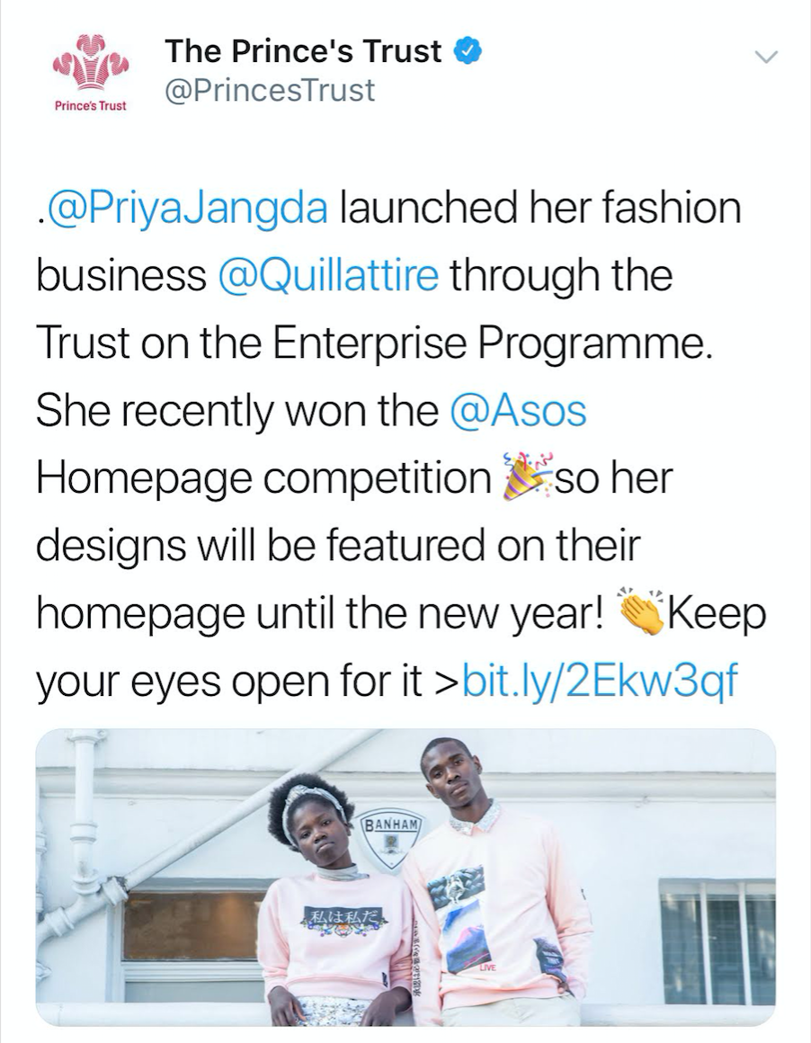 Princes Trust and Quillattire