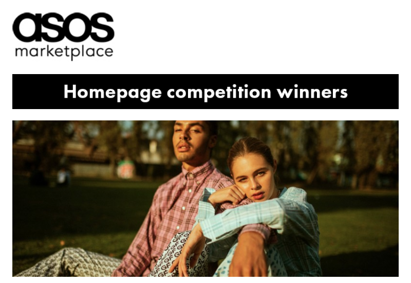 So we won the ASOS Homepage Competition! We submitted some amazing images with our product and ASOS loved them, you can see the images all over the website but click  here  for more of an in depth read about the process!