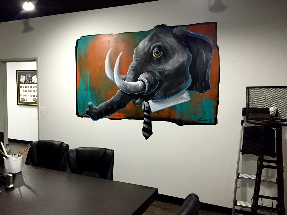 Elephant in the Room - Mural By AKA COOKIE