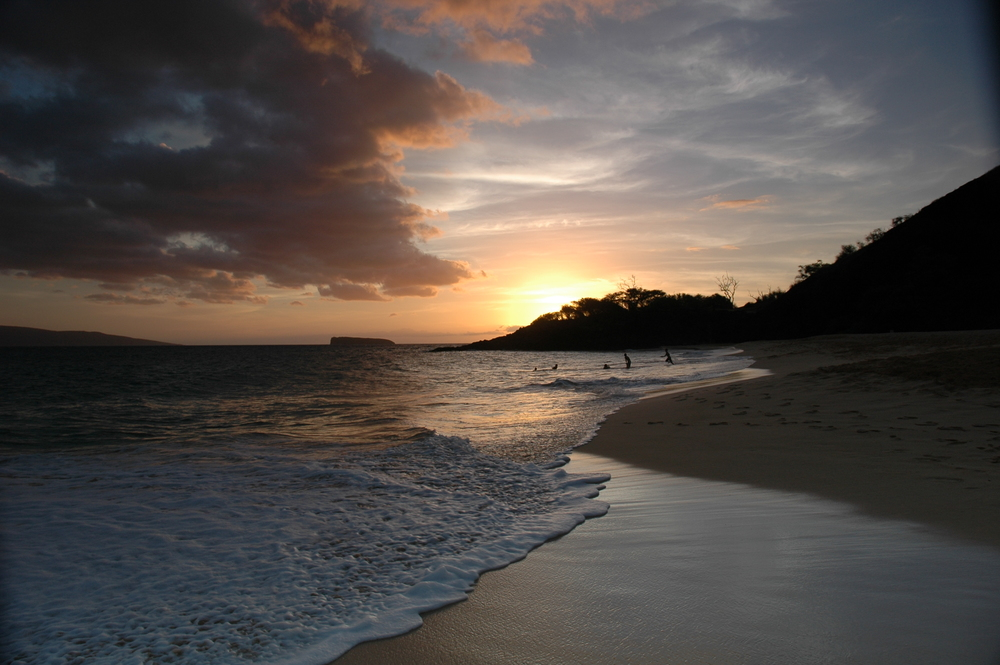 Sunset at Big Beach, Makena