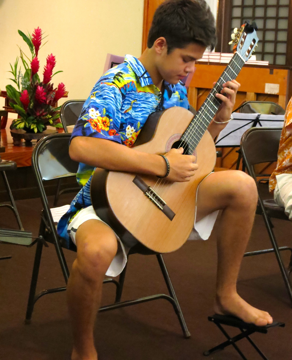 Zak Werdegar at the Lahaina Jodo Mission (2014)