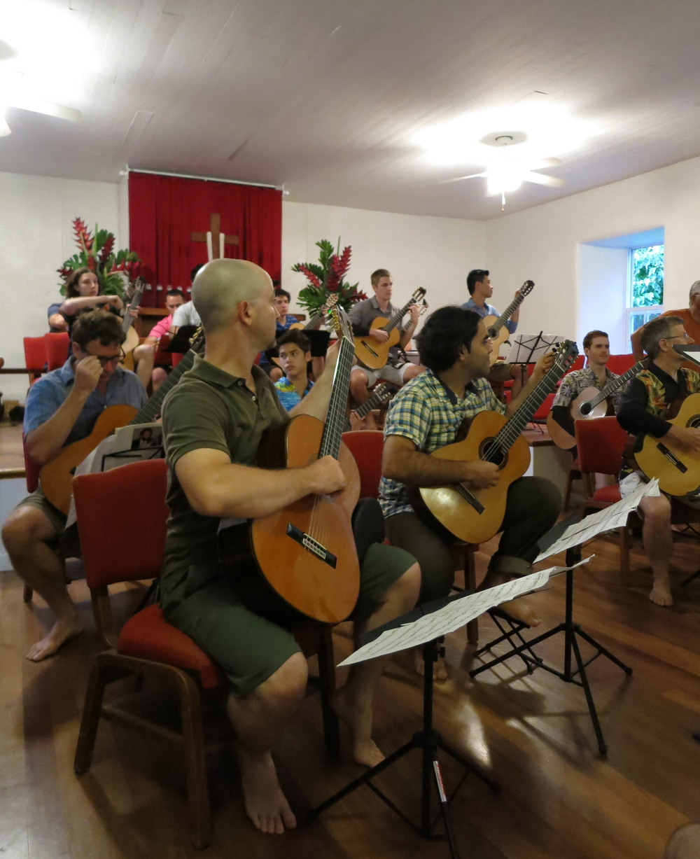 Guitar orchestra at Keawala'i Church (2014)