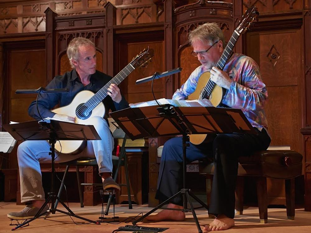 John Dearman and Ben Verdery performing at Makawao Union Church (2014)