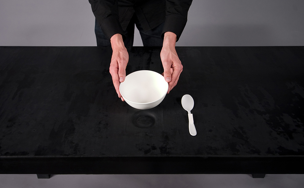 The table reacts to objects within its vicinity.