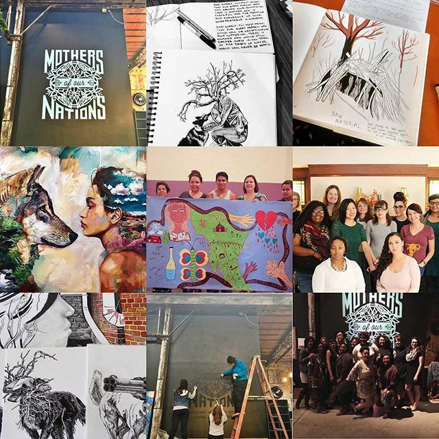 Our best nine of 2016 👧🏽👩🏼‍🎤👩🏼👩🏾‍🔧🙅🏽💃🏻🤦🏻‍♀️💁🏿👩🏼‍🎨Thanks for all the love and support this year...we hope we gave some in return xo . . . #fromheretoher #womenartists #healingarts #communityartists