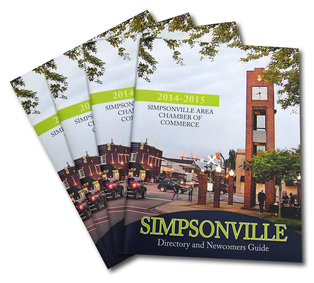 Bradham Printing & Signs was honored to be selected to print the Simpsonville Chamber of Commerce Directory and Newcomers Guide.