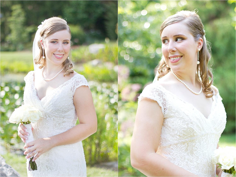 kaitlin's bridal portraits at virginia tech's hahn horticulture
