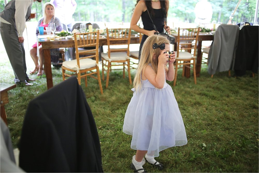 Little Girl with a Disposable Camera Flat Top Lake West Virginia Wedding Photography