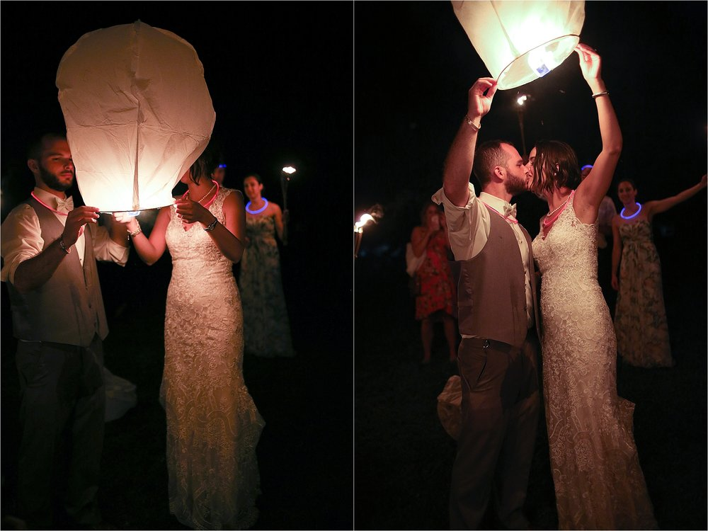 Wedding Paper Lantern Send Off Photos Flat Top Lake West Virginia Wedding Photography