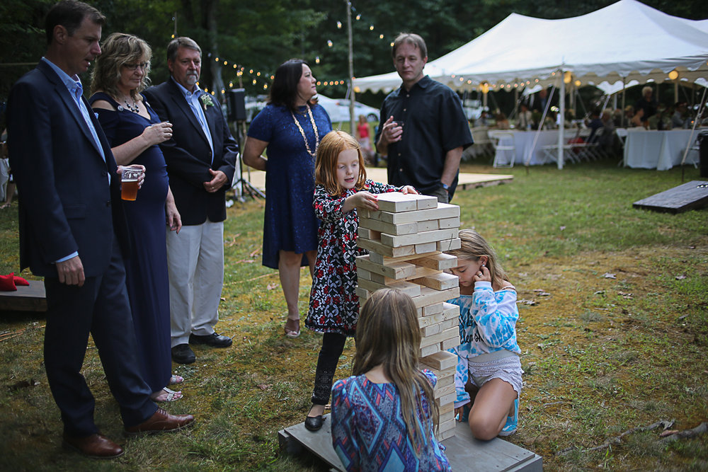 Giant Jenga Wedding Lawn Games Brittany + Michael's Camp Themed Wedding | Virginia Wedding Photographers