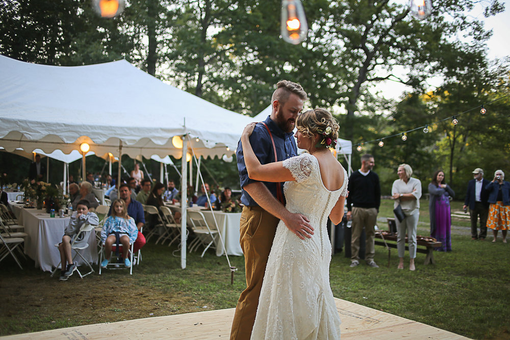 First Dance Brittany + Michael's Camp Themed Wedding | Virginia Wedding Photographers