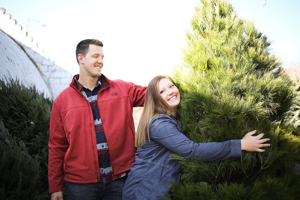 Danielle + Michael | Blacksburg Christmas Card Photographer, Holly Cromer