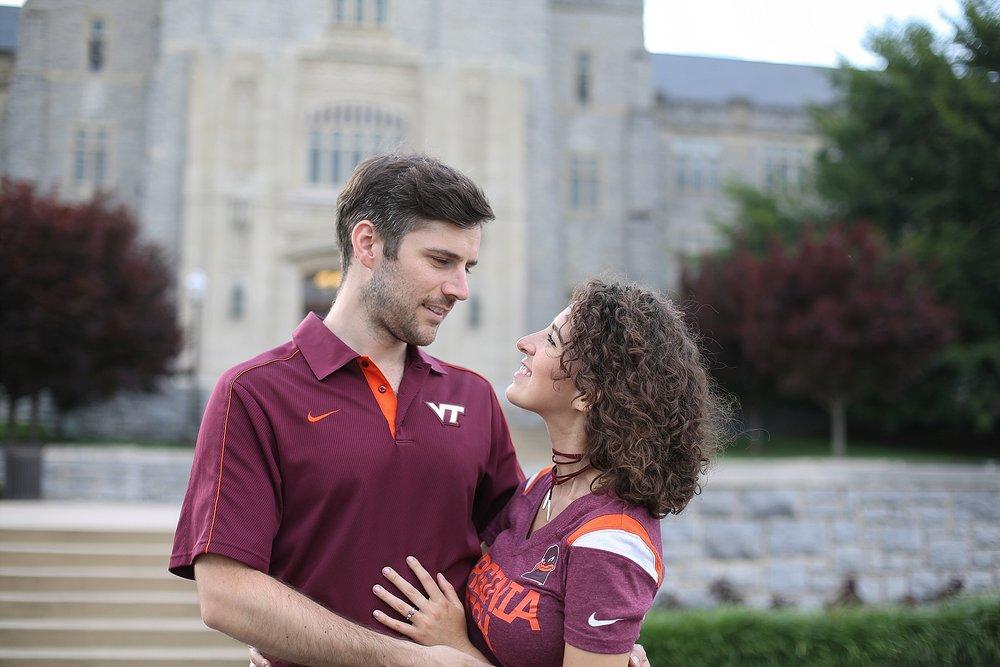 Boris + Crystal's Virginia Tech Engagement Photos | Blacksburg, Virginia Wedding Photographer Holly Cromer