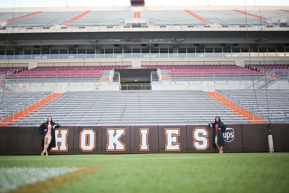 Allie + Melinda | Virginia Tech Graduation Portrait Photographer, Holly Cromer