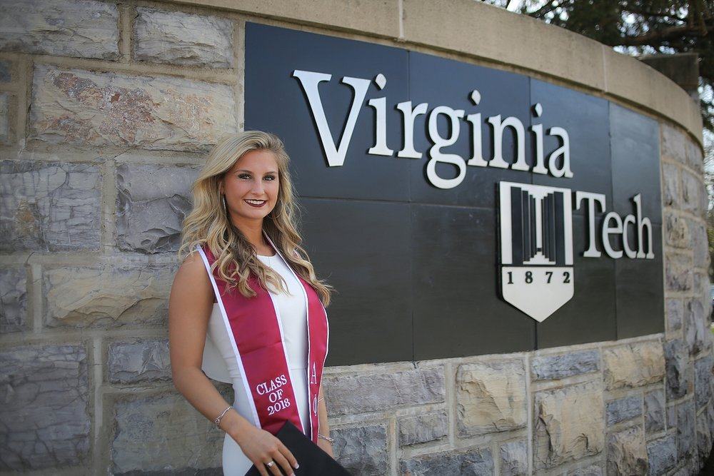 Amber | Virginia Tech Graduation Portrait Photographer Hokie Cheerleader Senior Portrait Photographer, Holly Cromer