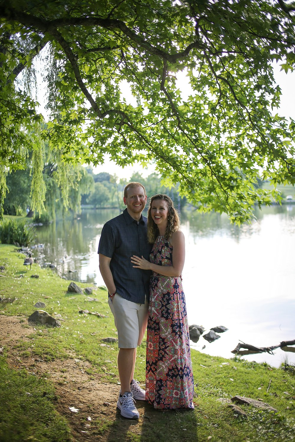 Matt + Amy's Virginia Tech Duck Pond Proposal | Blacksburg, Virginia Engagement Photographer: Holly Cromer