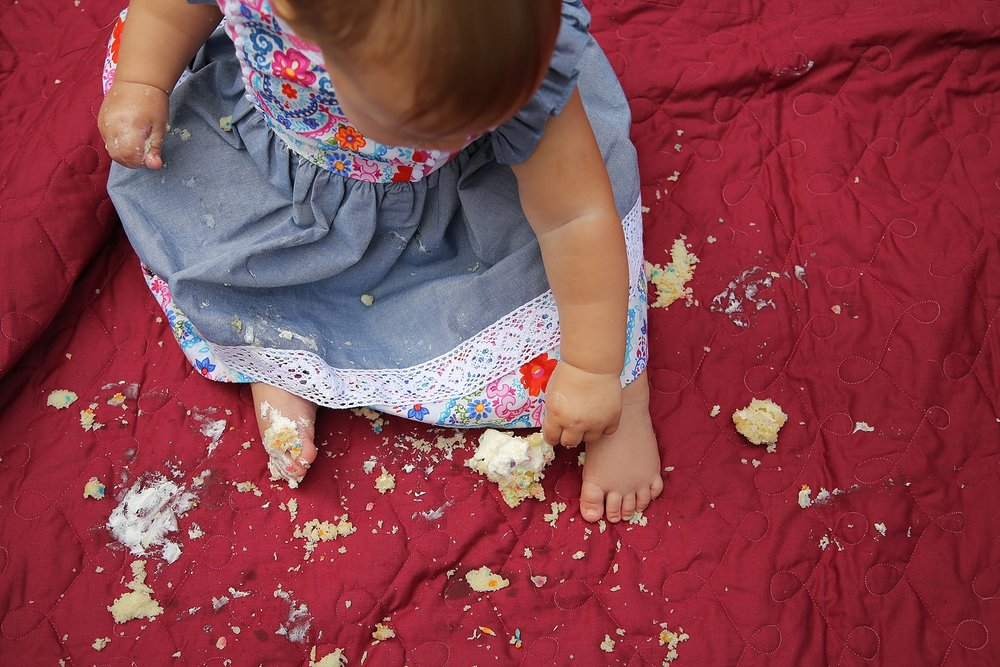 Skylar's First Birthday Cupcake Smash | Blacksburg Family Photographer, Holly Cromer