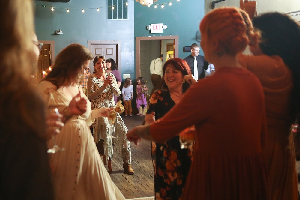 Marcus + Kayla's Radford Theater Wedding Photos, Eclectic Bohemian Style Wedding | Radford, Virginia Wedding Photographer Holly Cromer