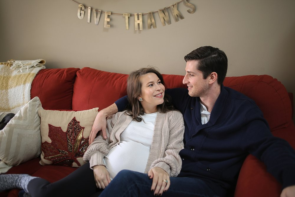 Mallary + Steven are Expecting! | Blacksburg Lifestyle In Home Maternity Photographer, Holly Cromer