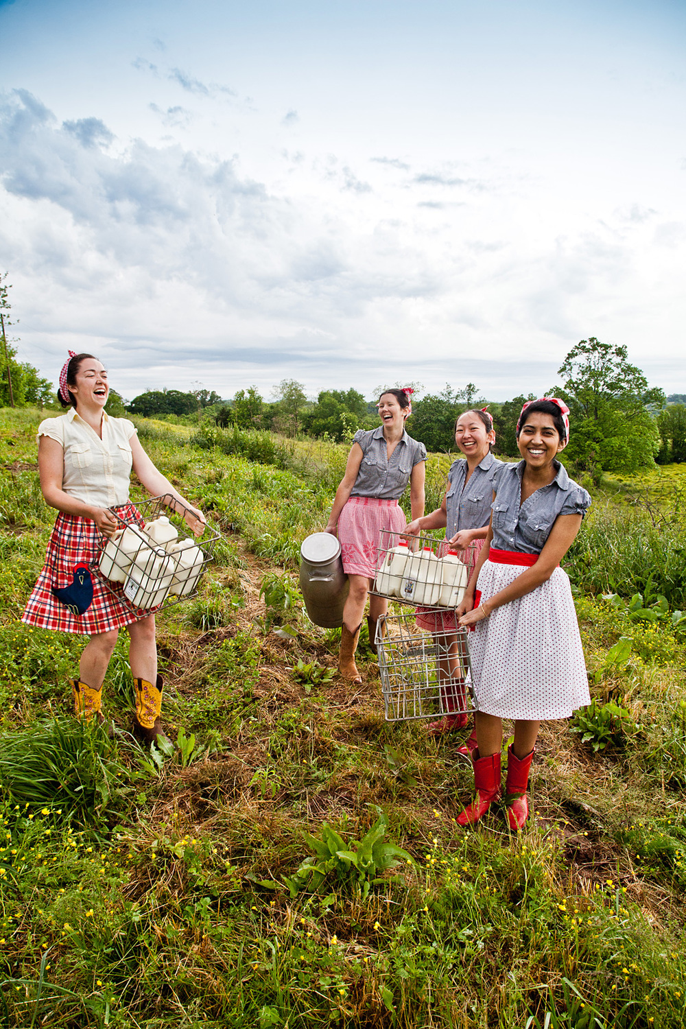 Farm girls Colleen, Cristina, Ayaka and Jaanki- Conde Nast Traveler http://www.pfephoto.com