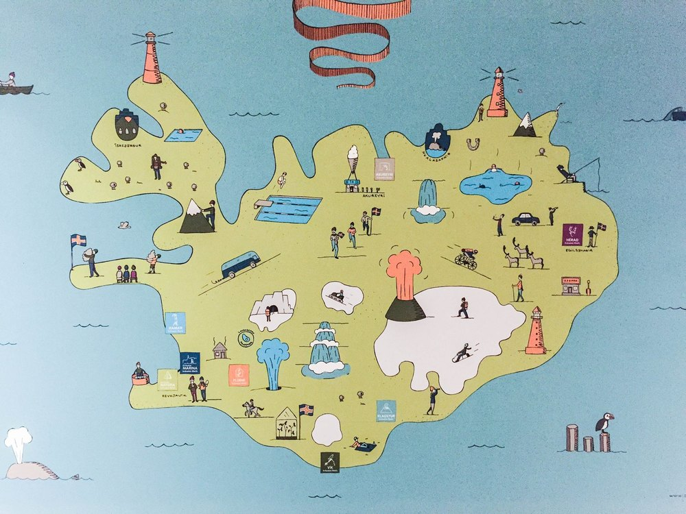 Un très bon résumé des différentes régions de l'Islande