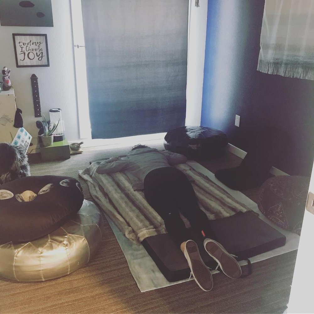 Whether you want to meditate or play with some self-care tools, this is the room to come get in touch with your feelings. The water room is nurturing and inspiring to sit in or meet in,