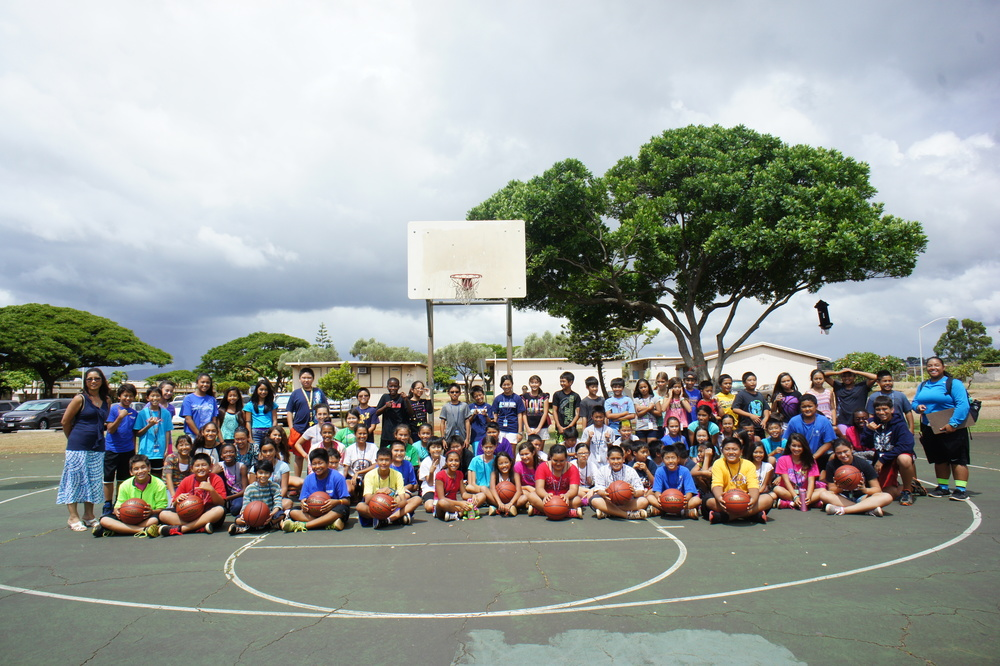 Basketballs to Pearl Ridge Elementary 2014 5.JPG