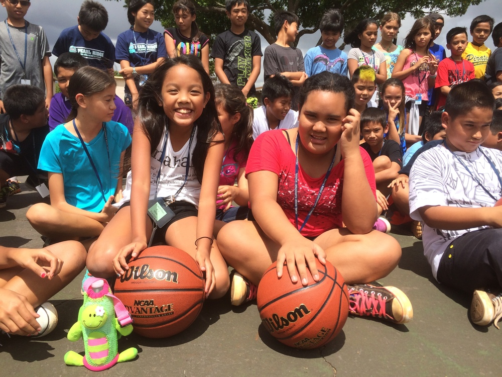 Basketballs to Pearl Ridge Elementary 2014 30.jpg
