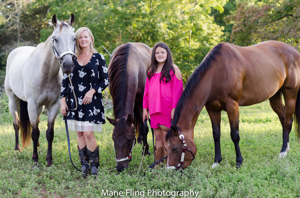 horse and family portrait-session