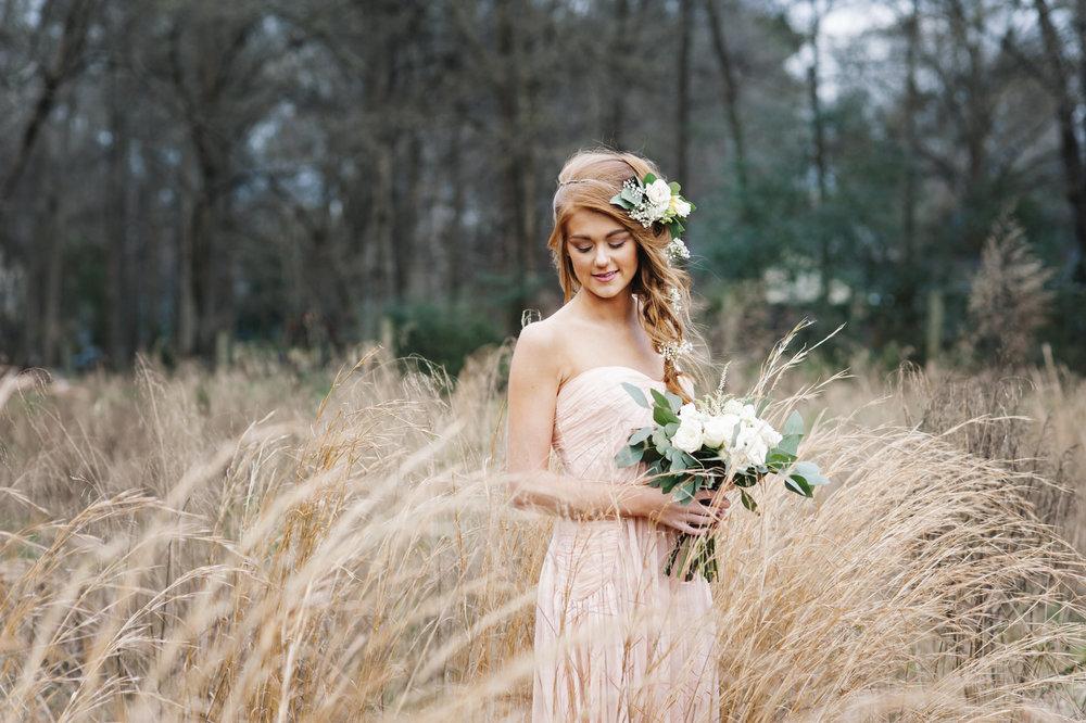 bridesmaiddresswithfloralcrown