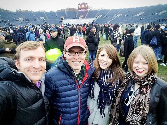 The GAME: Harvard/Yale 2017  We won! The Bulldogs did it! IVY CHAMPEEEEEENS!  FTR: win, lose or draw, I will always be a terrible sport  @jwheeler_14 and @ephraimols are v patient #BOOLABOOLA #harvardyale