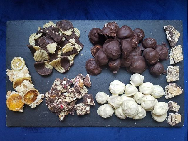 Next up? Holiday candy... . . #nougat #chocolatepotatochips #chocolatebark #keylimebark #peppermintbark #maplesugar #truffles #christmas #hannukah #thanksgiving