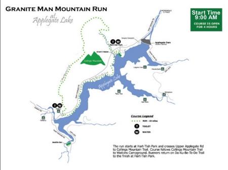 10 Mile Mountain Run Course Map