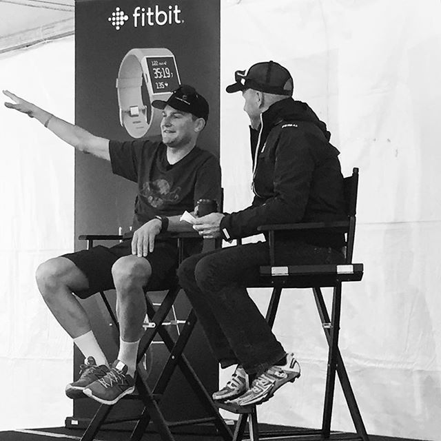 Ted King telling stories at @fitbit during a special media breakfast. #fitbit #surge #fitness #procycling