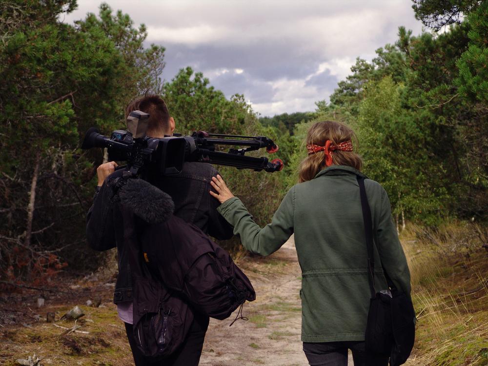 Sibling filmmaking team Aldona and Julian Watts.