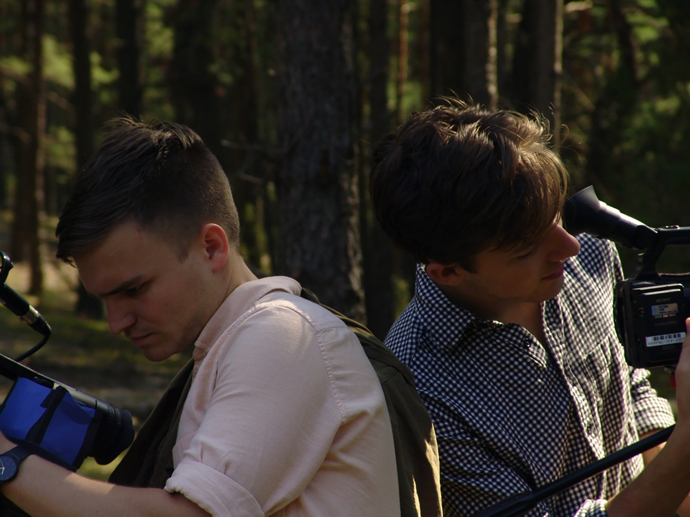 Cinematographers Julian Watts and James Kennard.