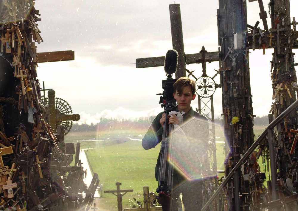 Cinematographer James Kennard at the Hill of Crosses in Lithuania.