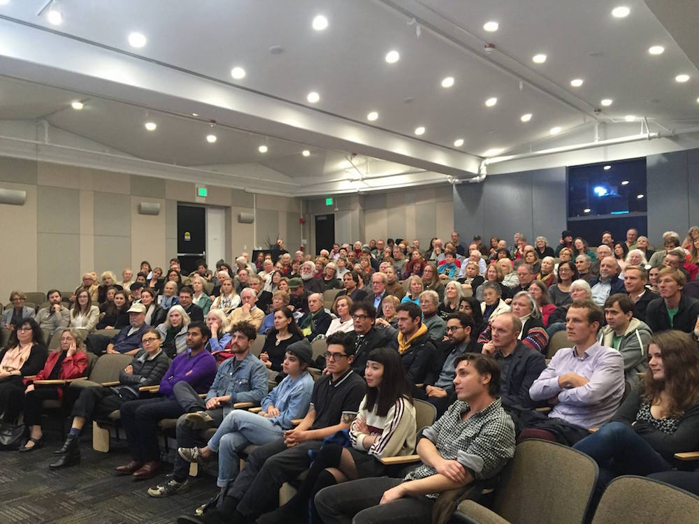 Land of Songs' West Coast Premiere on the closing night of Stanford University's 2015 Baltic Film Series in Stanford, CA (December 2015). Over 300 people attended, making it Stanford Libraries' biggest event to date.