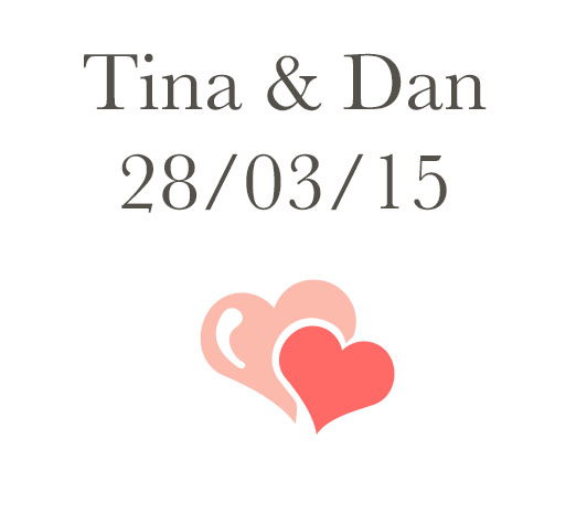 Wedding of Tina and Dan 28th of March 2015