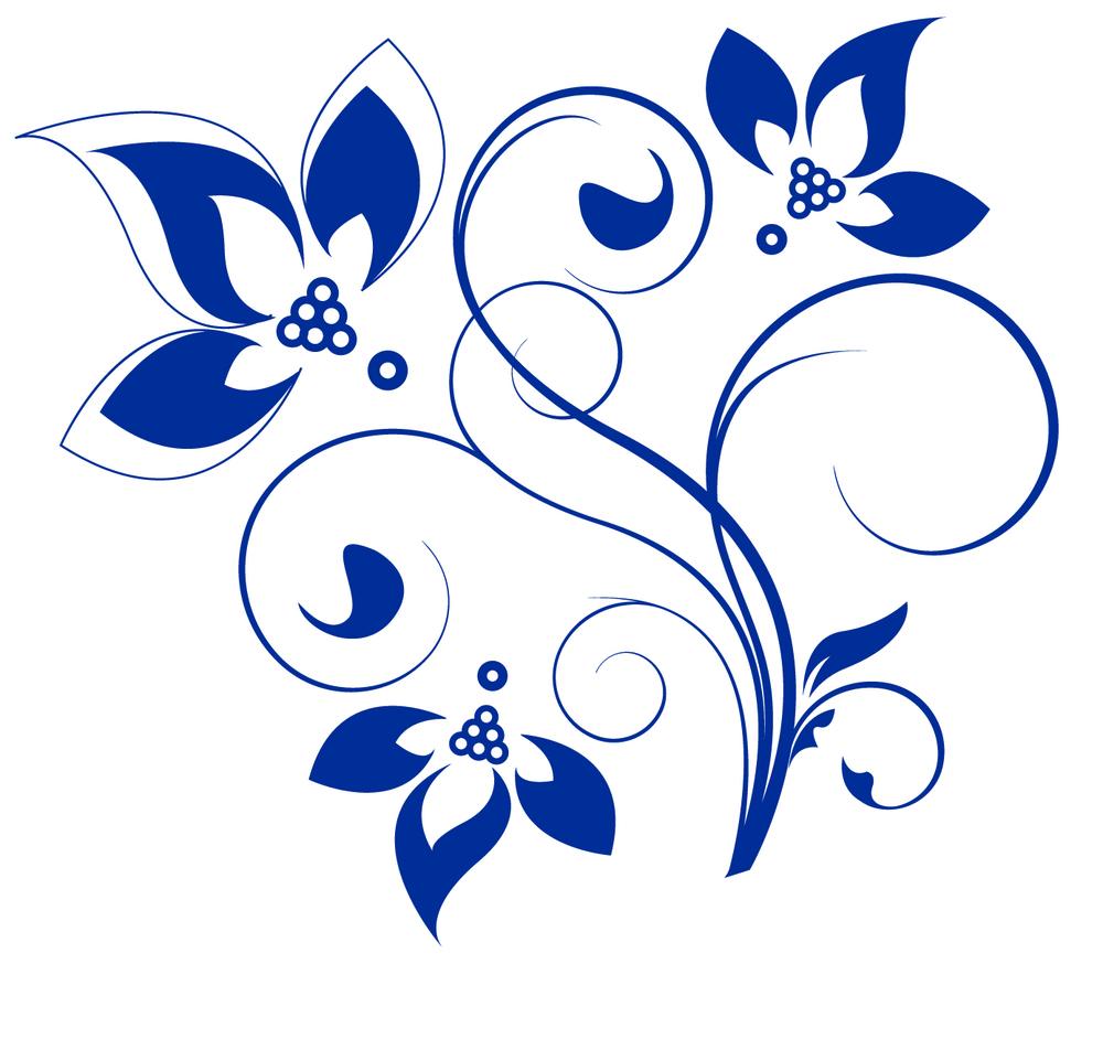3. Blue Flowers