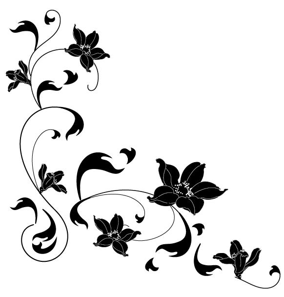 2. Black Flowers