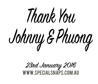 Wedding of Johnny & Phuong 23rd of January 2016