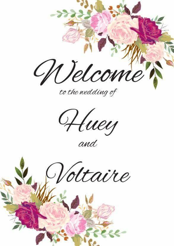 Wedding of Huey & Voltaire 24th September 2016