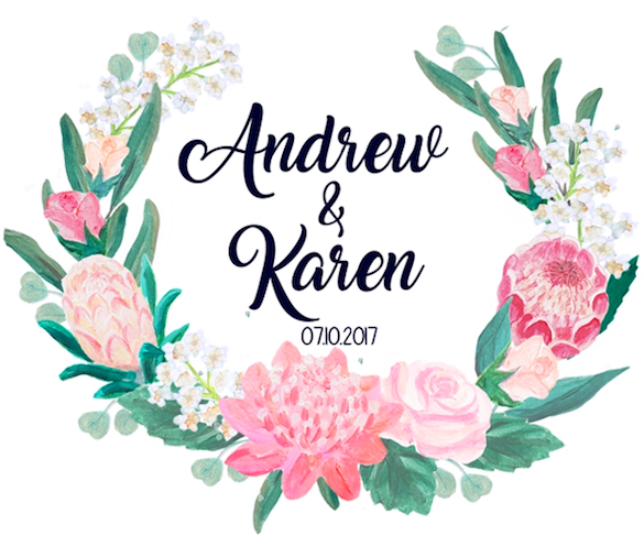Wedding of Karen & Andrew 7th of October 2017