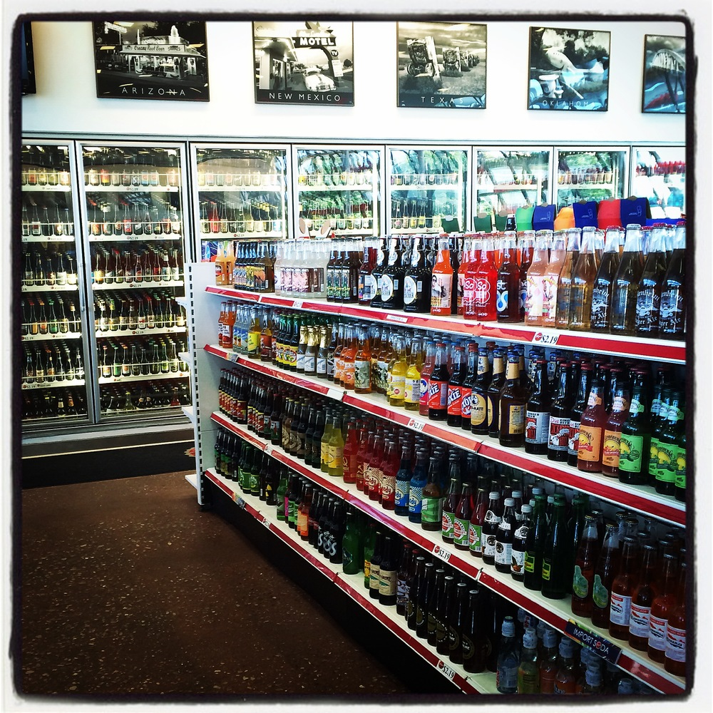 Soda Selection at POPS - Arcadia, OK